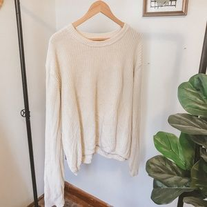 Cream Knit Sweater from Urban Outffiters